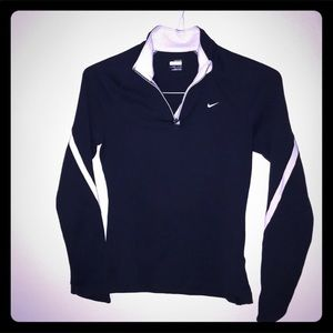 Nike, fit dry style, navy blue, small